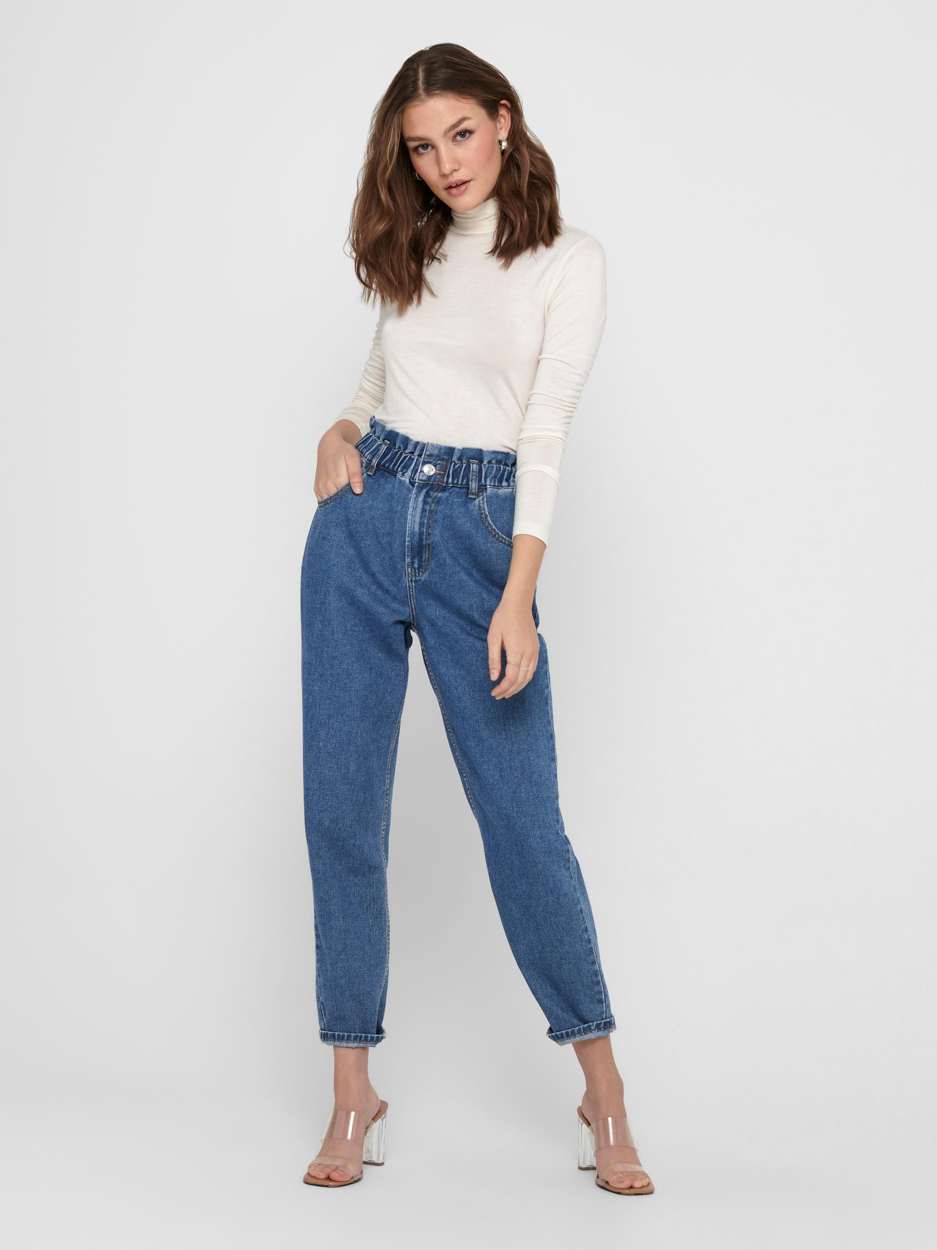 ONLY Ankle-Paperbag-Jeans Ova