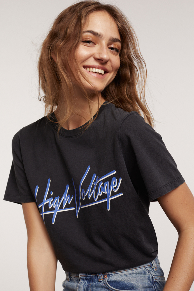 Gina Tricot Shirt High Voltage