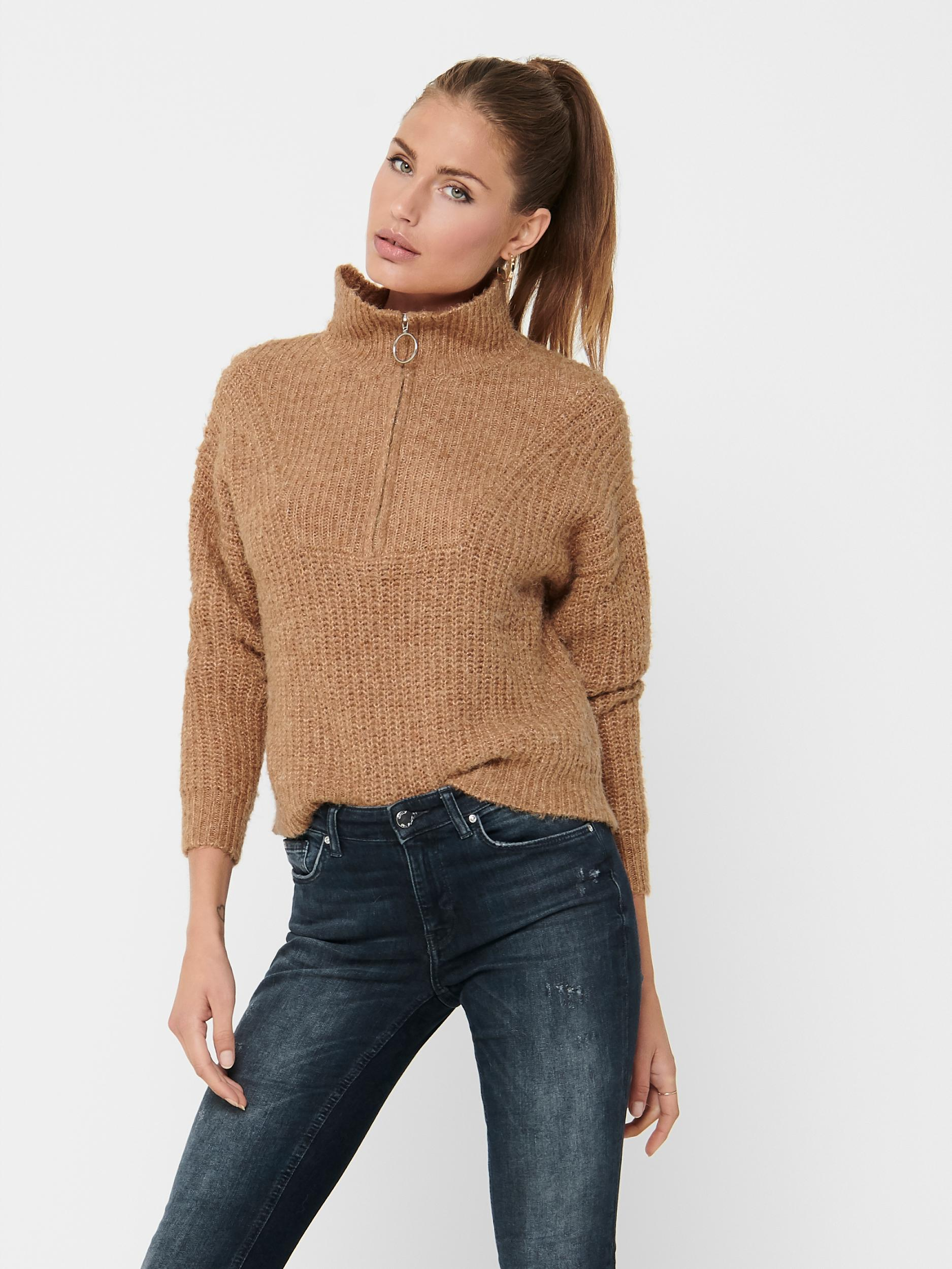 ONLY Zip Sweater Emily in 2 Farben