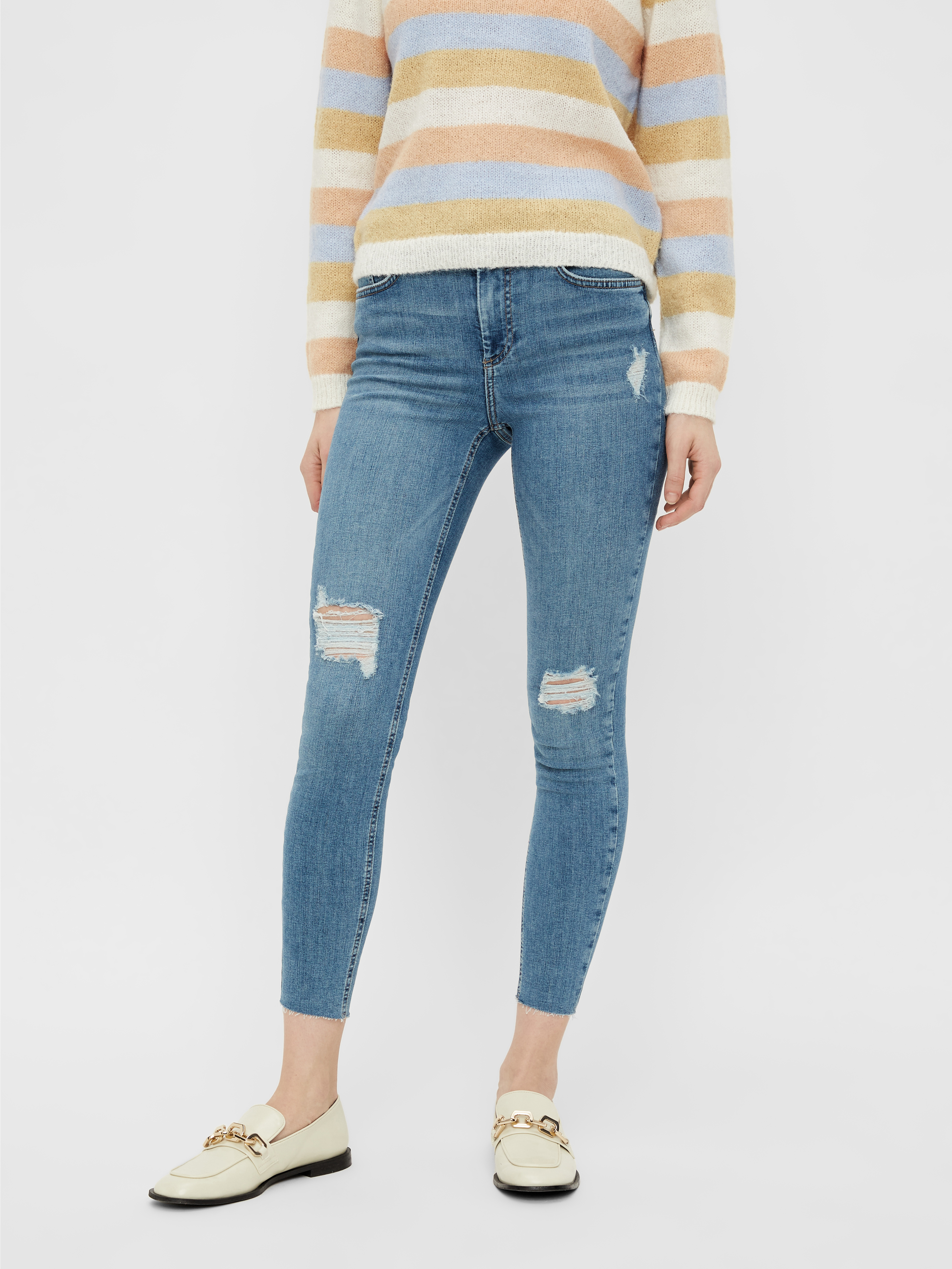 Pieces Ankle Jeans Delly destroyed